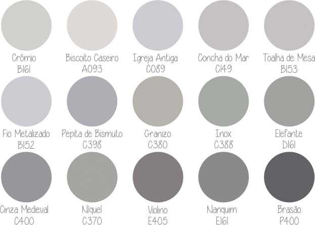 paleta Suvinil 50 tons de cinza