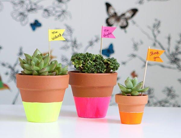 Vasinhos pintados – mais graça ao seu jardim