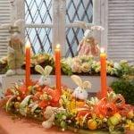 Decoração de mesa para a Páscoa