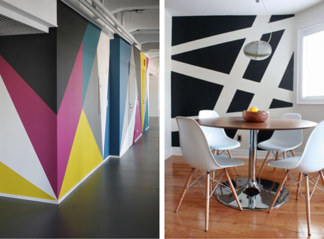 Pintura geom trica usar ou n o simplichique - Pinturas especiales para paredes ...