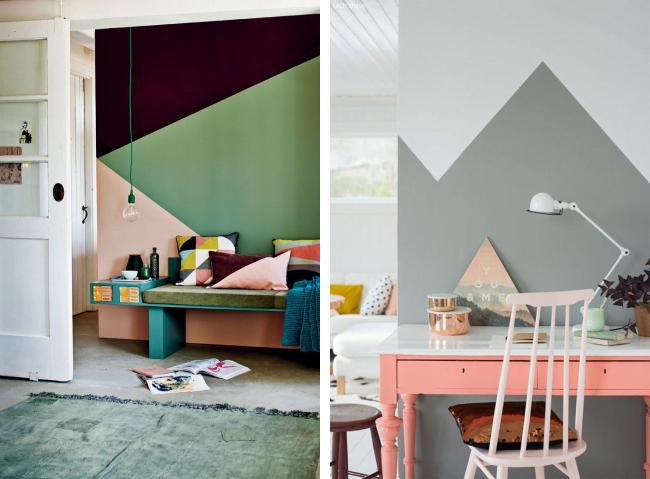 Pintura geom trica usar ou n o simplichique - Pintura metalizada para paredes ...