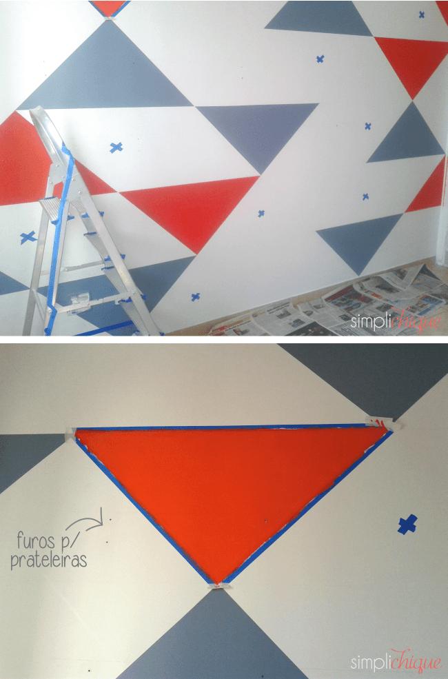 pintura parede de triângulos simplichique 04