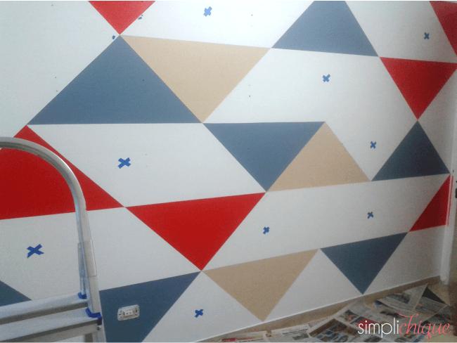 pintura parede de triângulos simplichique 05