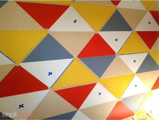 pintura parede de triângulos simplichique 06
