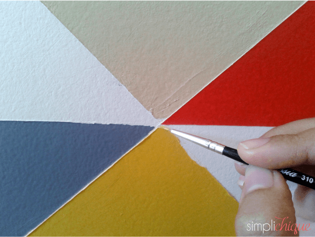 pintura parede de triângulos simplichique 08