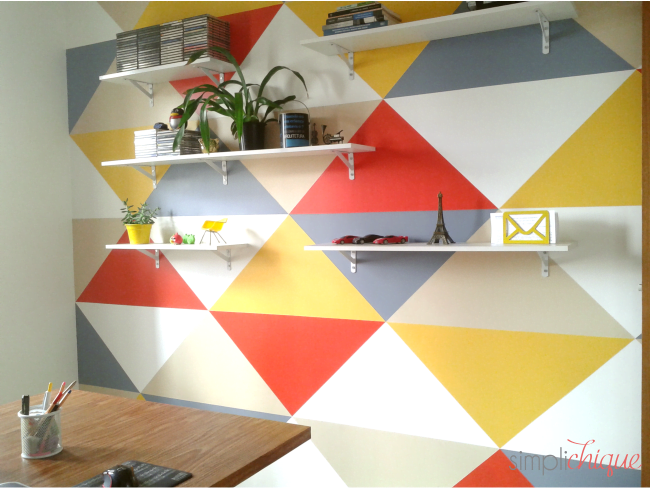 pintura parede de triângulos simplichique 15