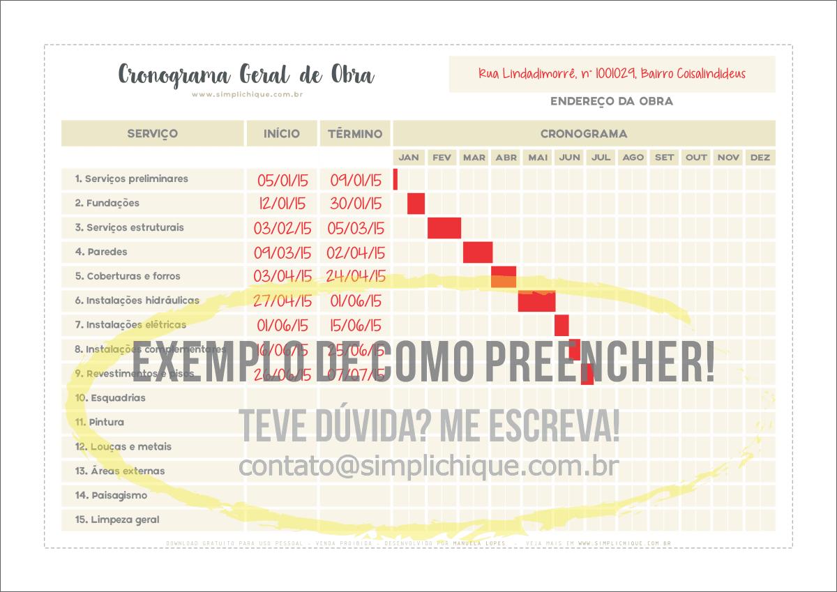 download planilha planejamento simplichique