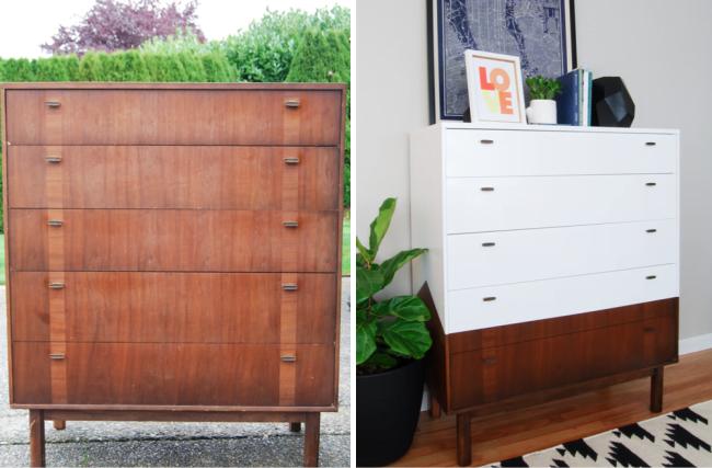 repaginada móveis antes e depois