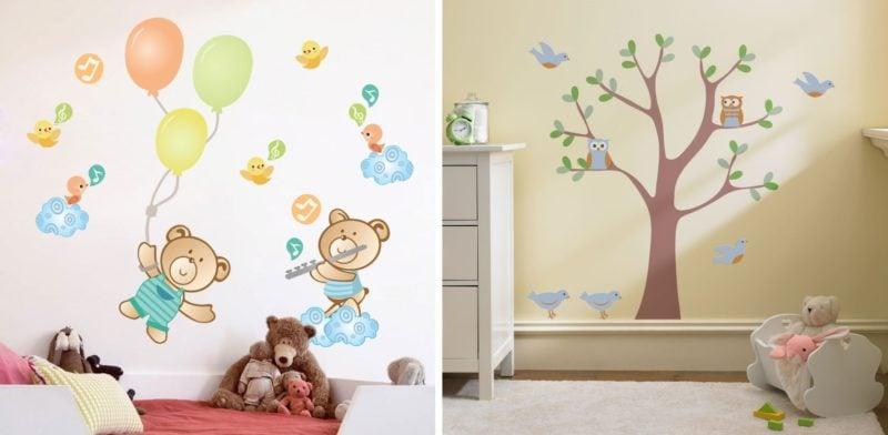 Adesivos de parede onde e como usá los Simplichique ~ Adesivos De Parede Para Quarto De Bebe Urso