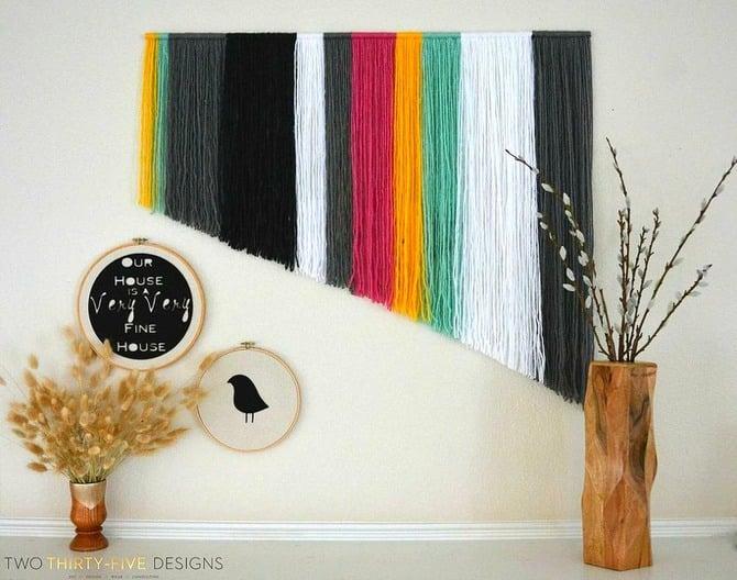 diy decoração com lã 02