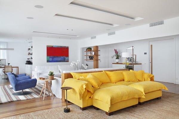 Sala De Tv Com Sofa Amarelo ~ não é só decoração moderninha que um sofá amarelo pode compor