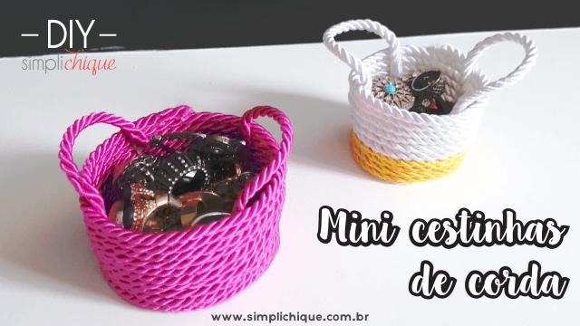 DIY mini cestinhas de corda cabeçalho