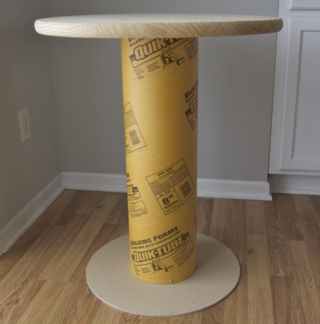 Fa a voc mesmo mesa lateral com tubo de papel o for Cocktail tables diy