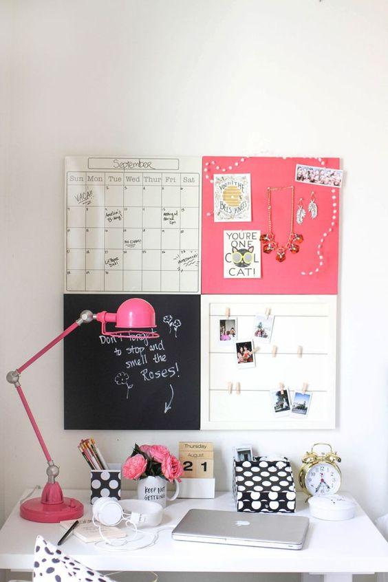 Favoritos Ideias de mural criativo para seu home office | Simplichique JA91