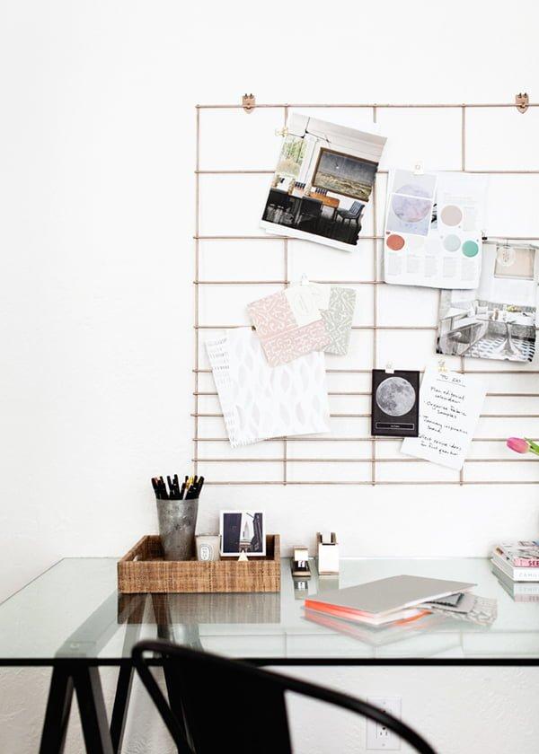 ideias de mural criativo para seu home office simplichique. Black Bedroom Furniture Sets. Home Design Ideas