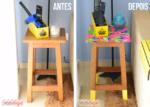 DIY: Meu banquinho repaginado com chita