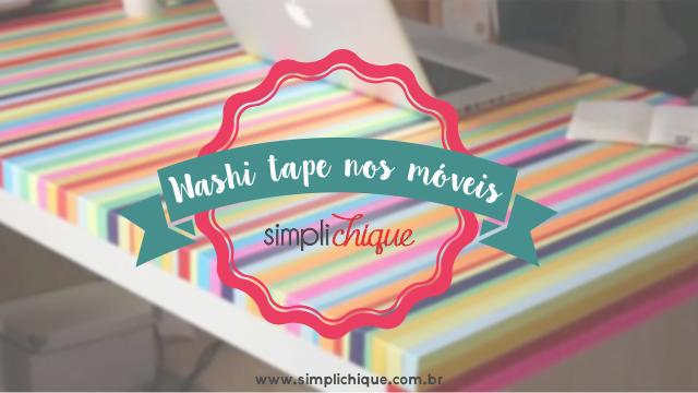 washi tape em móveis cabeçalho