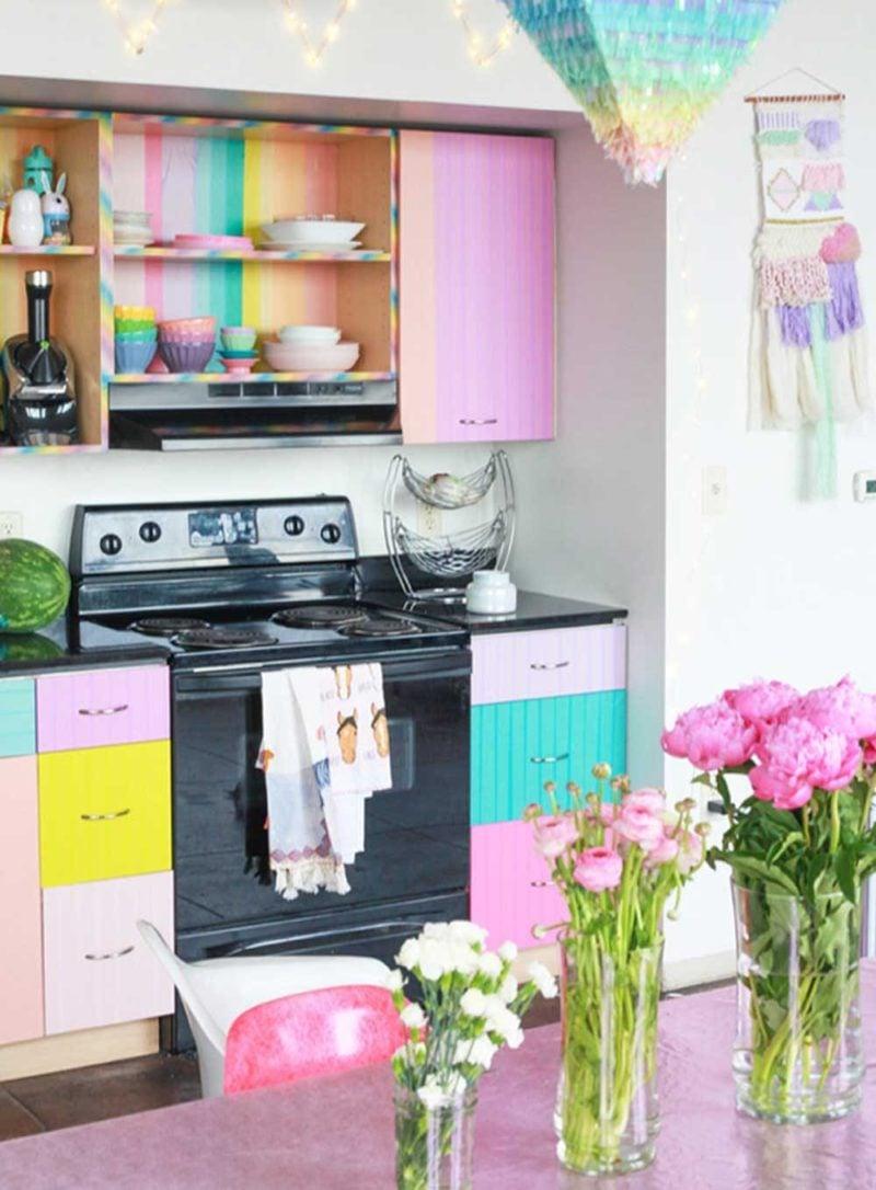 armário de cozinha colorido 01