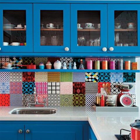 armário de cozinha colorido 02