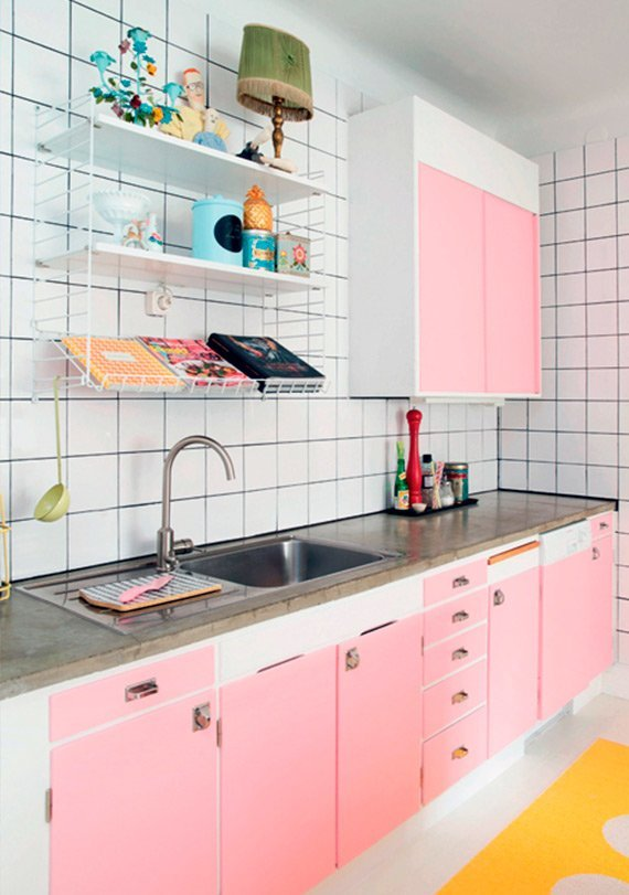 armário de cozinha colorido 04