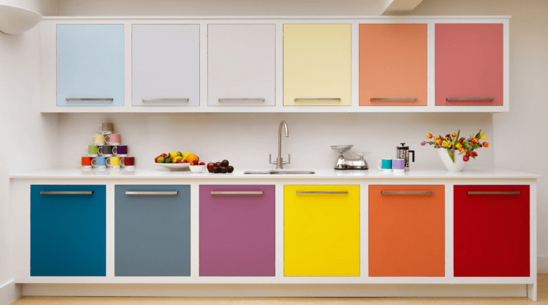 Artesanato Porto Seguro Bahia ~ Armário de cozinha colorido inspirações e dicas para fazer em casa Simplichique