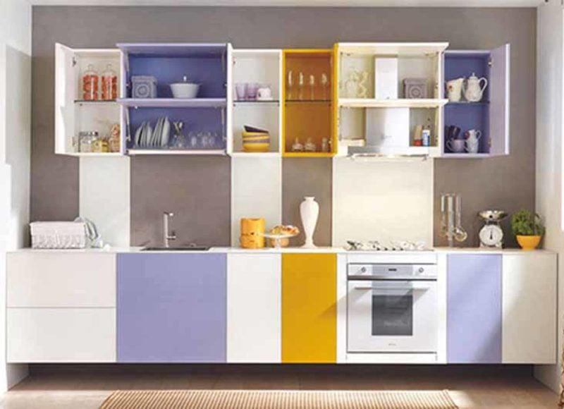 armário de cozinha colorido 10