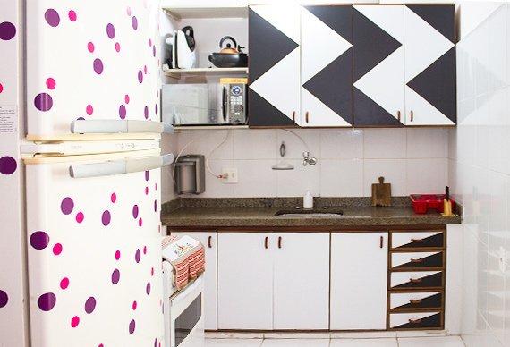 armário de cozinha colorido 11