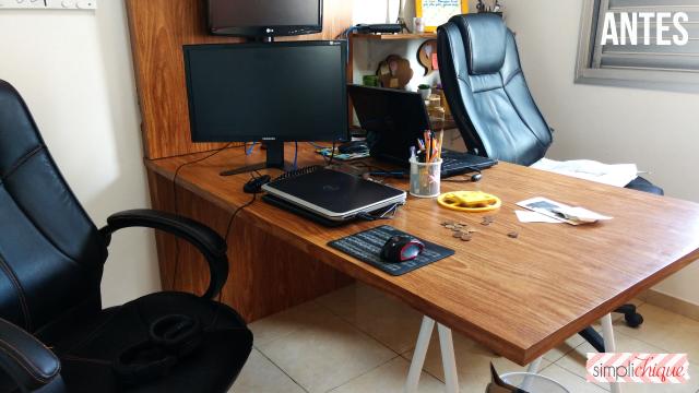 casa arrumada escritório antes simplichique