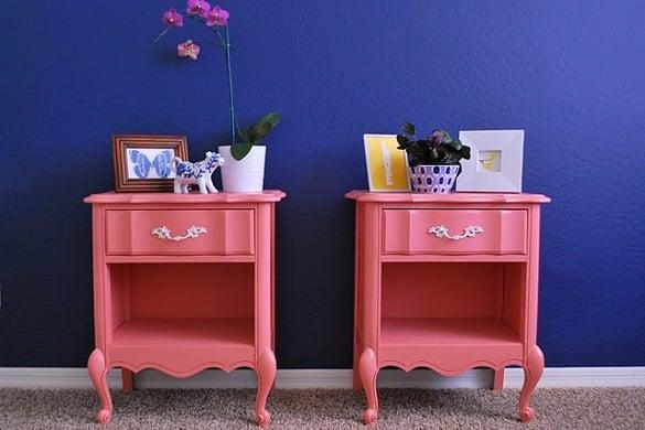 Dicas de como usar criado mudo colorido no quarto - Reciclar muebles usados ...