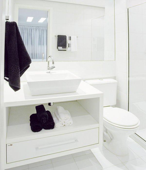 Bancadas de banheiros pequenos dicas para não errar -> Banheiro Pequeno Bancada