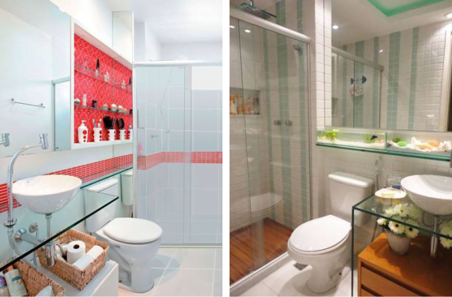 Bancadas de banheiros pequenos dicas para não errar -> Banheiros Tamanho Pequeno