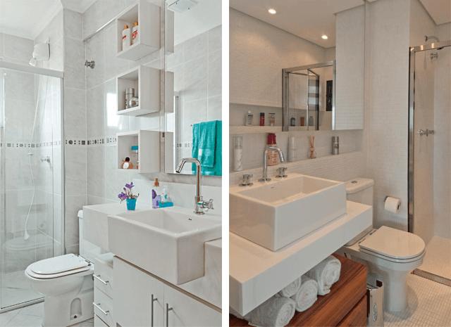 Bancadas de banheiros pequenos dicas para não errar -> Loucas Banheiro Pequeno