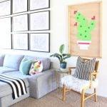 DIY Quadro de cacto pixelado – Decoração Barata