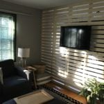 Divisória de madeira personalizada, linda e super barata