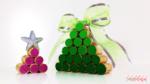 DIY Mini árvores de Natal feitas com rolhas de cortiça