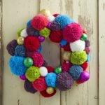 Inspirações para usar pompom de lã na decoração do Natal