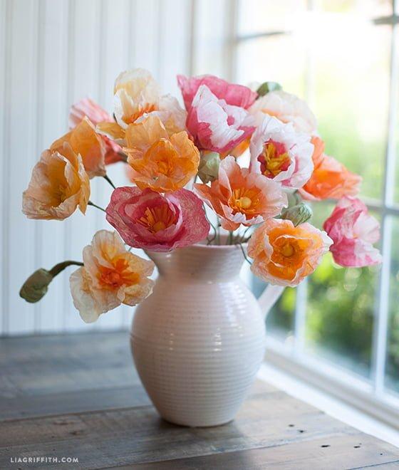 5 tutoriais para decorar a casa com flores de papel - Papel para decorar ...