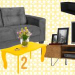 3 modelos de sala de estar lindas por menos de 1500 reais