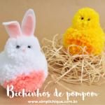 DIY de Páscoa: Coelhinho de Pompom