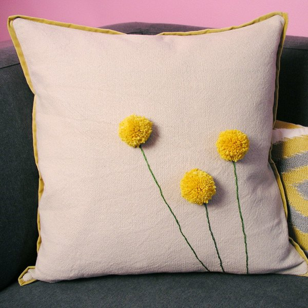 como decorar com pompom de lã