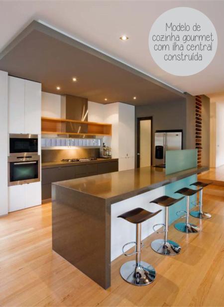 cozinha gourmet ilha modelo
