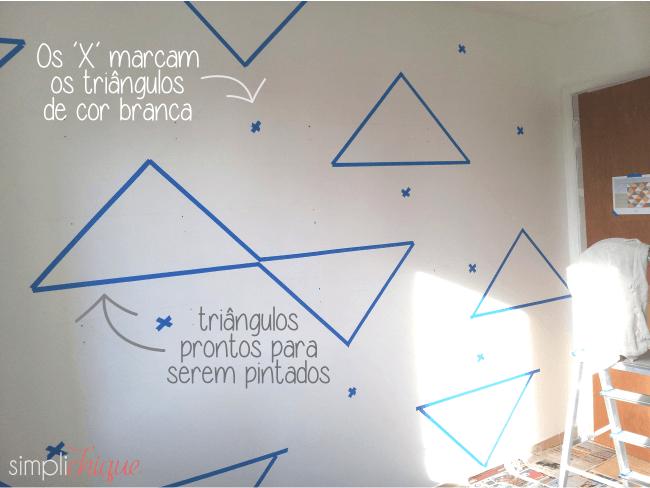 pintura parede de triângulos simplichique 03