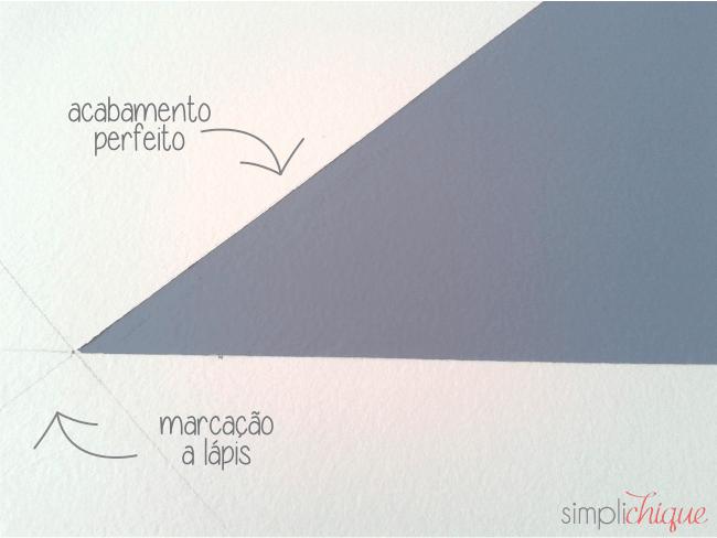pintura parede de triângulos simplichique 07