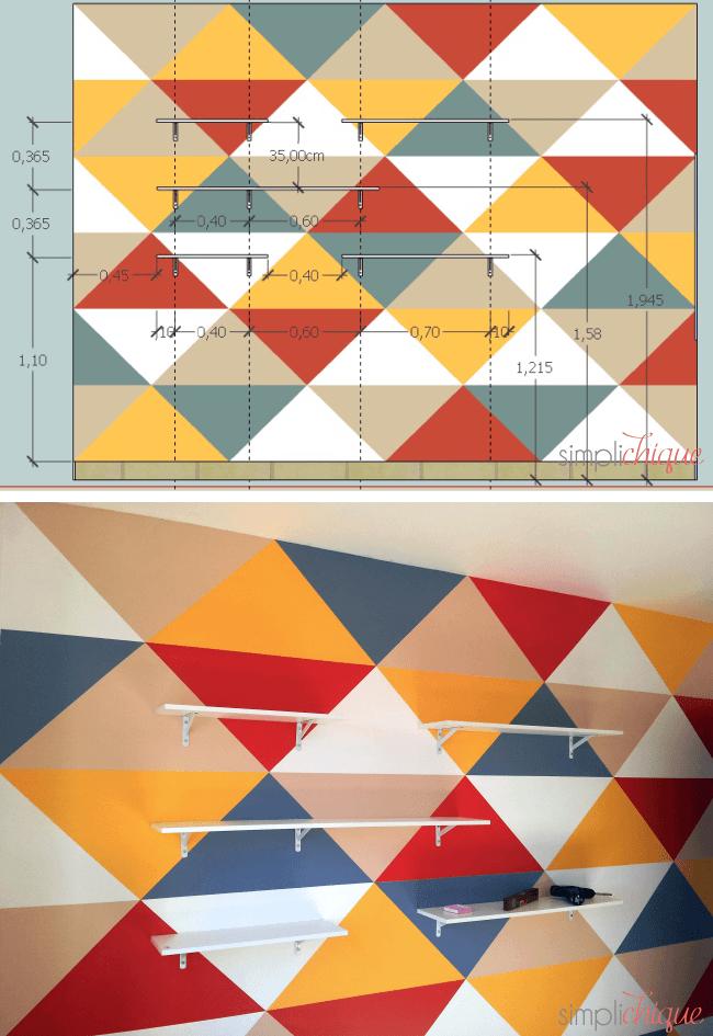 pintura parede de triângulos simplichique 09