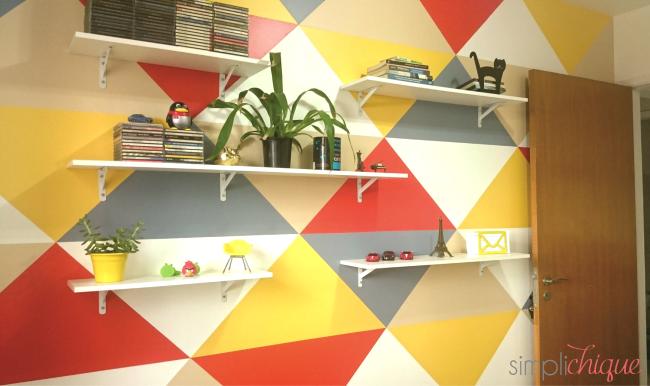 pintura parede de triângulos simplichique 11