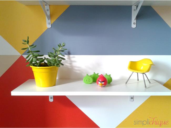 pintura parede de triângulos simplichique 13