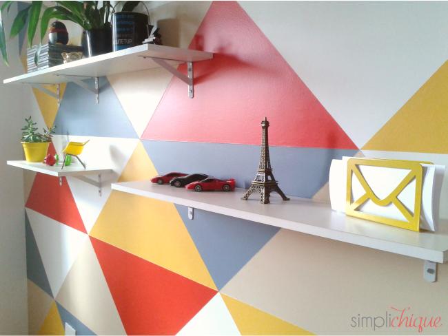 pintura parede de triângulos simplichique 14