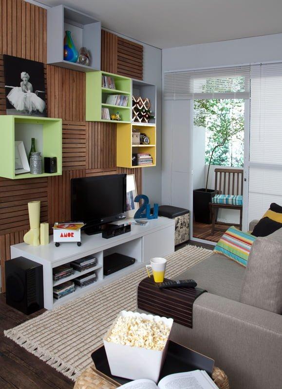 salas pequenas de apartamento 11