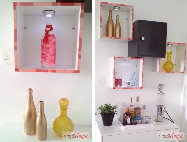 garrafas decorativas simplichique