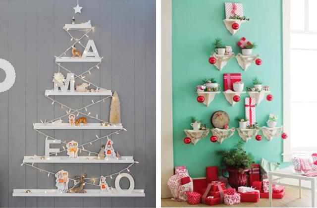 árvores de natal na parede